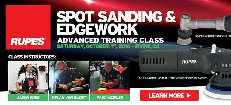 RUPES Spot Sanding & Edgework Advanced Training Class at Detailing.com - October 1st, 9am-12pm